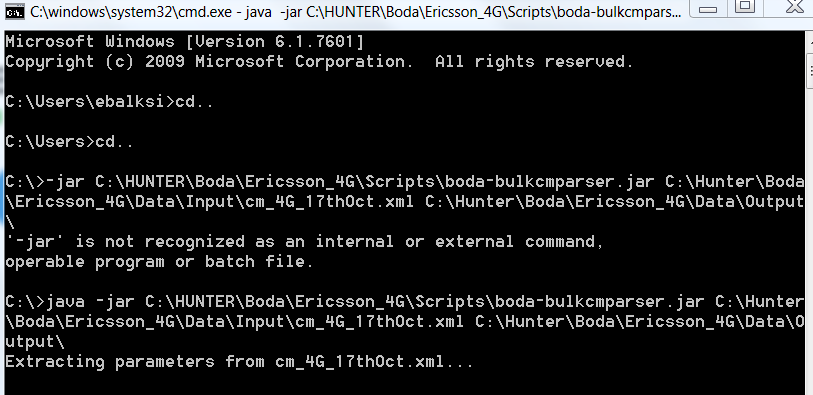 Ericsson 4G XML OSS Parameters Dump Parser - Hunter